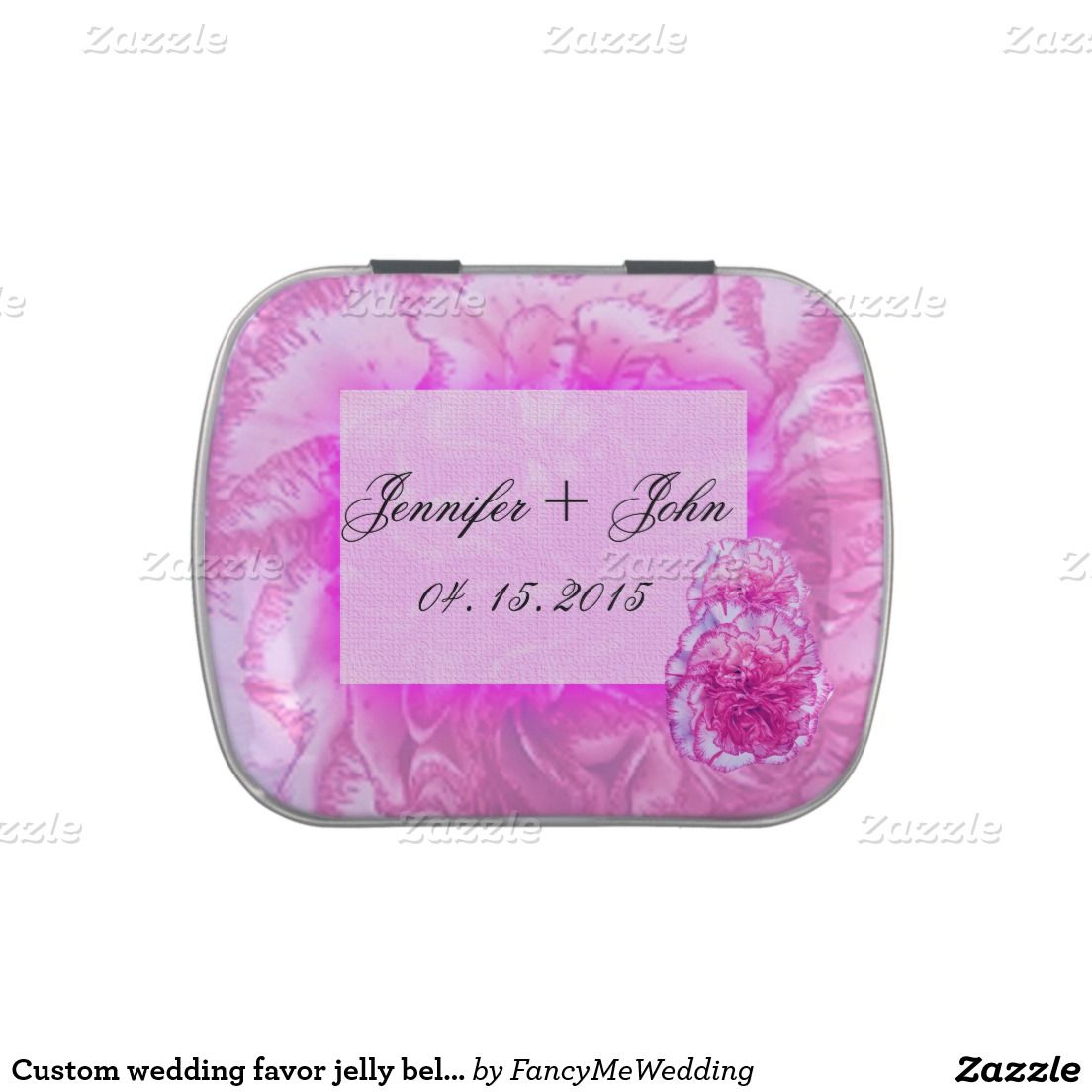 Custom wedding favor jelly belly jelly belly candy tins | Wedding ...