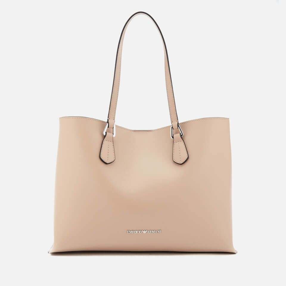 6a6723f4e Get Emporio Armani Women s Shopping Bag - Beige now at Coggles - the one  stop shop for the sartorially minded shopper. Free UK   EU delivery when you  spend ...
