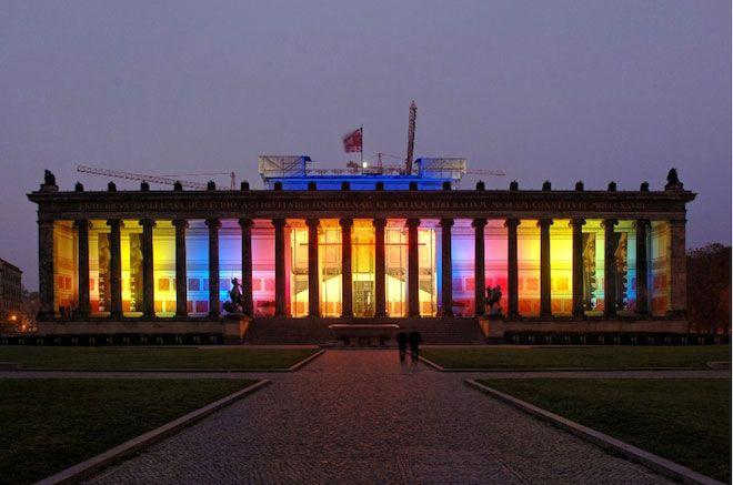 Edificio de colores