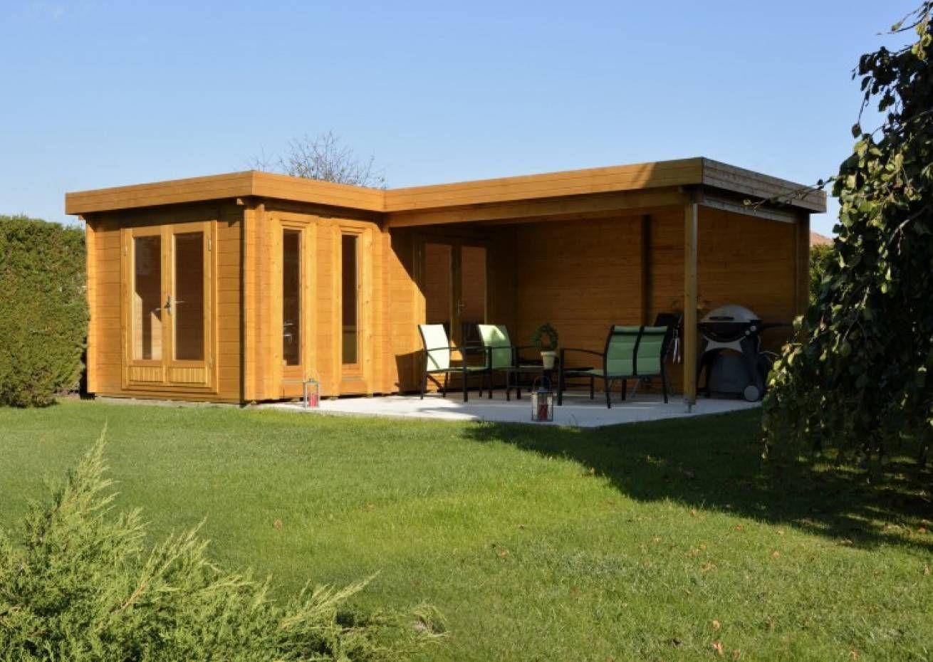 Flachdach Gartenhaus Modell Quinta ISO Flachdach gartenhaus