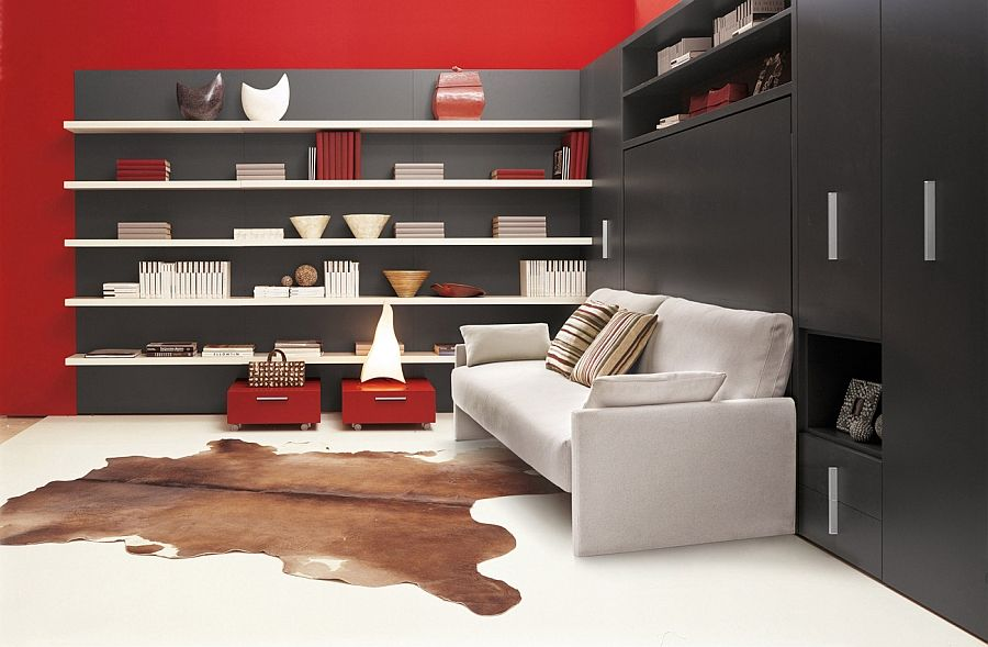 modern wall bed. Transformable Murphy Bed Over Sofa Systems That Save Up On Ample Space Modern Wall A