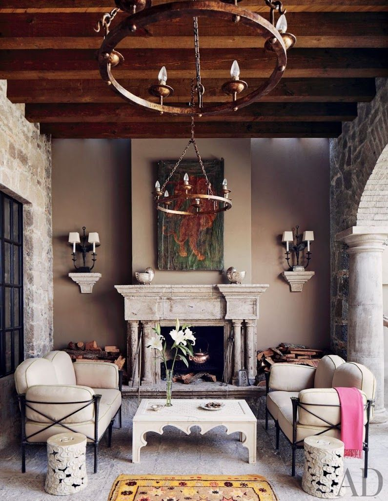 Southwest decor living room  Modern entrance hall by Ray Booth via archdigest  The Longest Stay