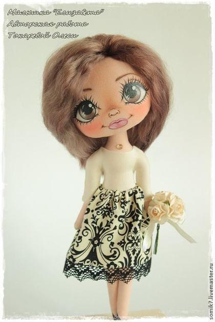 """Muñecas de colección hechos a mano.  Masters Feria - Girl hecho a mano """"Elizabeth"""".  Hecho a mano."""
