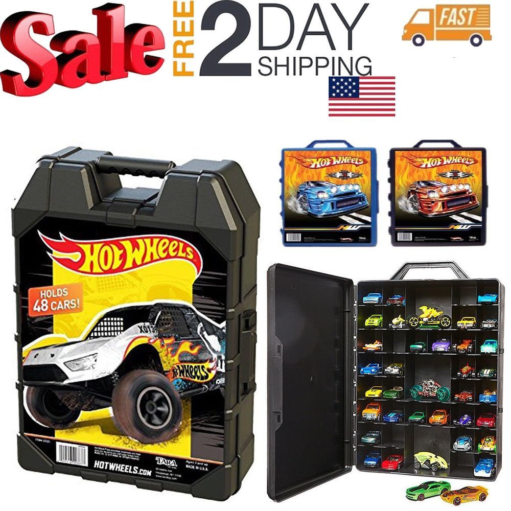 Hot Wheels 48 Car storage Case With Easy Grip Carrying