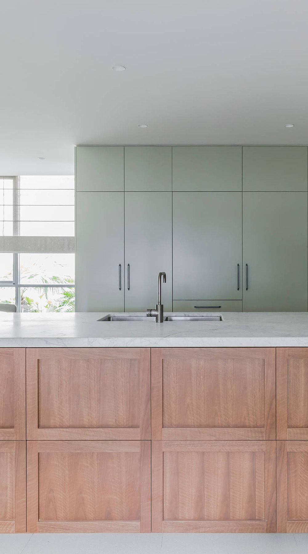 34 Top Green Kitchen Cabinets Good For Kitchen Get Ideas In 2020 Green Kitchen Cabinets Contemporary Wood Kitchen Sage Green Kitchen
