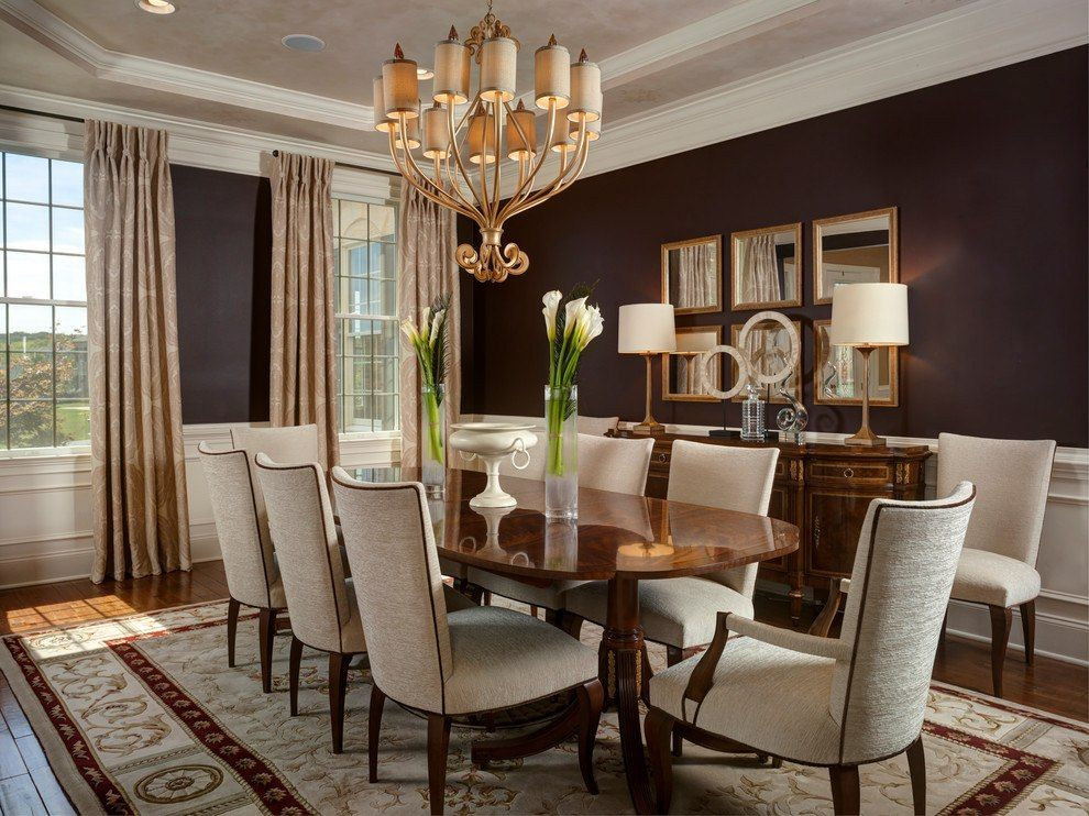 10 Beautiful Dining Rooms With Brown Walls Brown Dining Room