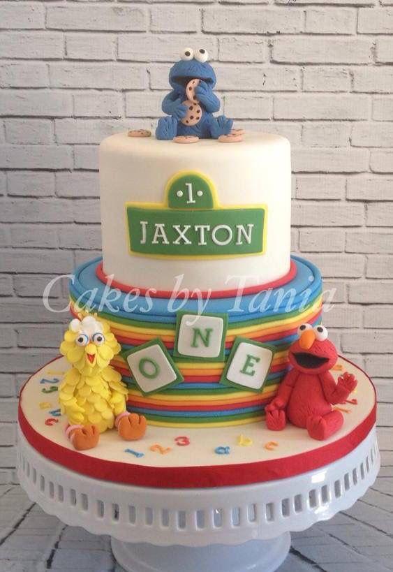 Sesame Street cake Birthdays Pinterest Sesame street cake