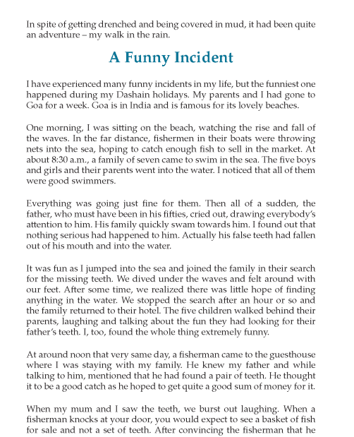 A humorous incident essay