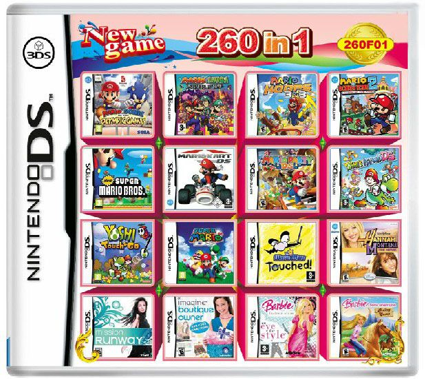 NDS Multicart of 482 in 1 video games but, it's has ...