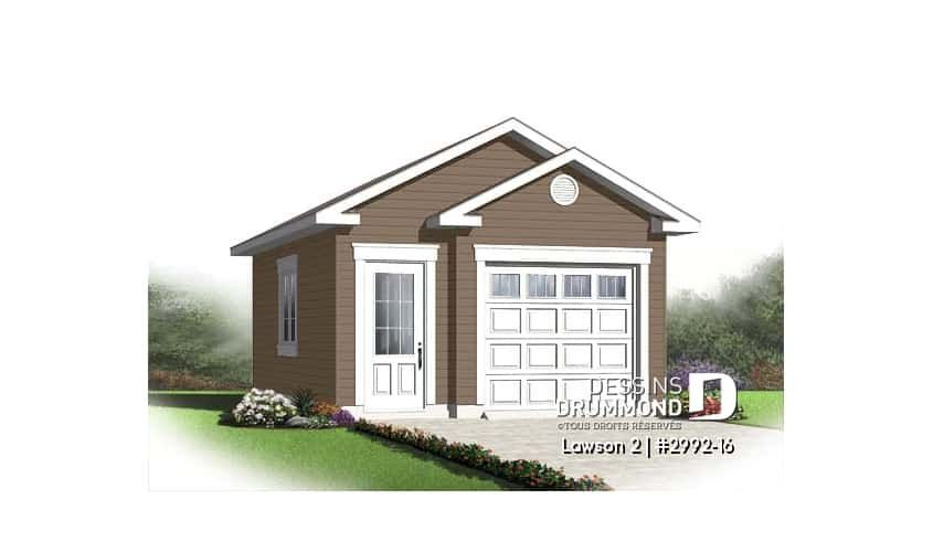 Decouvrez Le Plan 2992 16 Lawson 2 Qui Vous Plaira Son Style Champetre In 2020 Garage Plan Drummond House Plans Building Permits