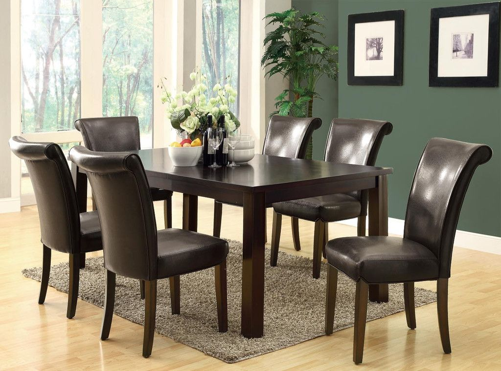 Dark Brown Leather Look 39 H Side Chair 2pcs Per Carton Dining