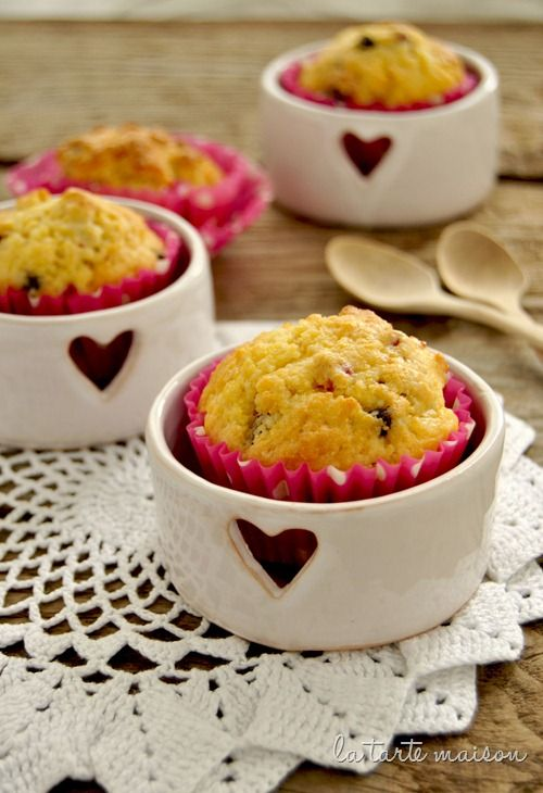 Corn and Dried Strawberry Muffins