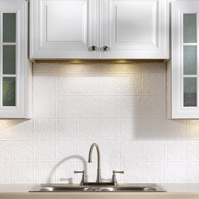 Amazon Com Fasade Easy Installation Traditional 1 Matte White