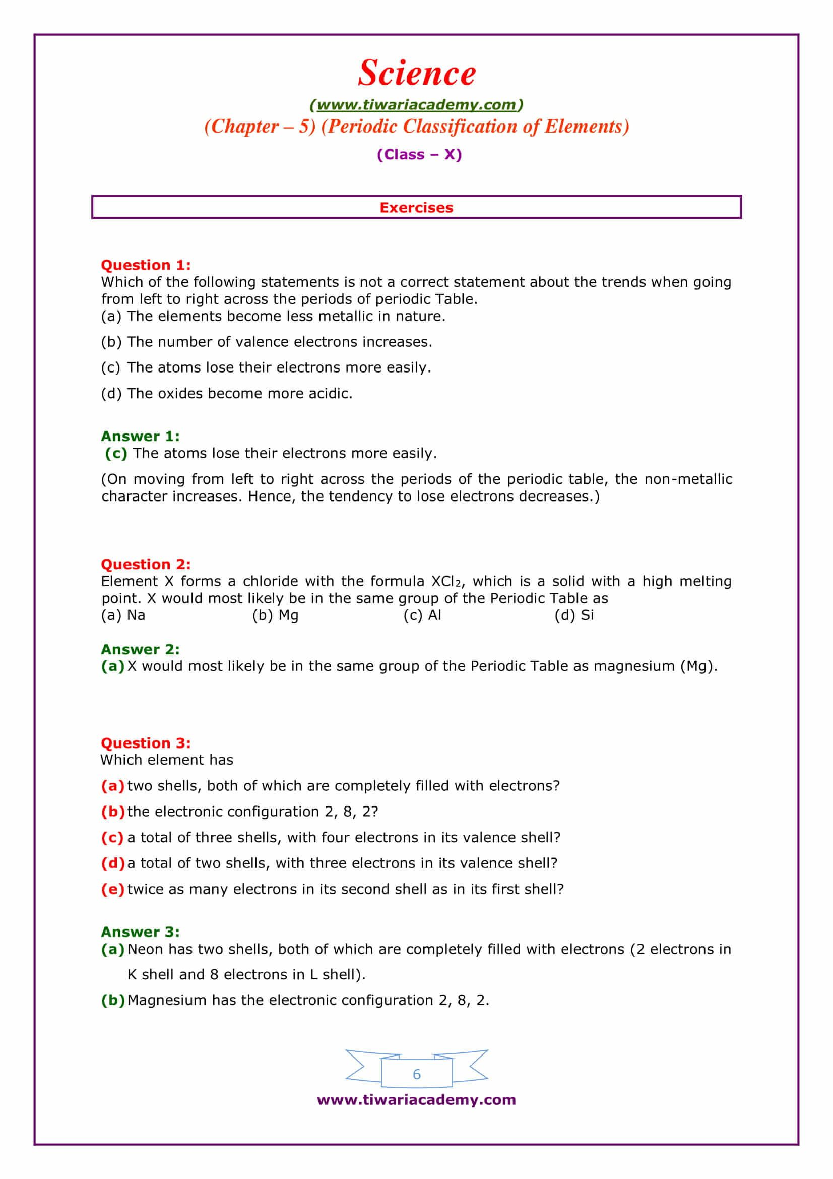 Chapter 6 The Chemistry Of Life Worksheet Answers