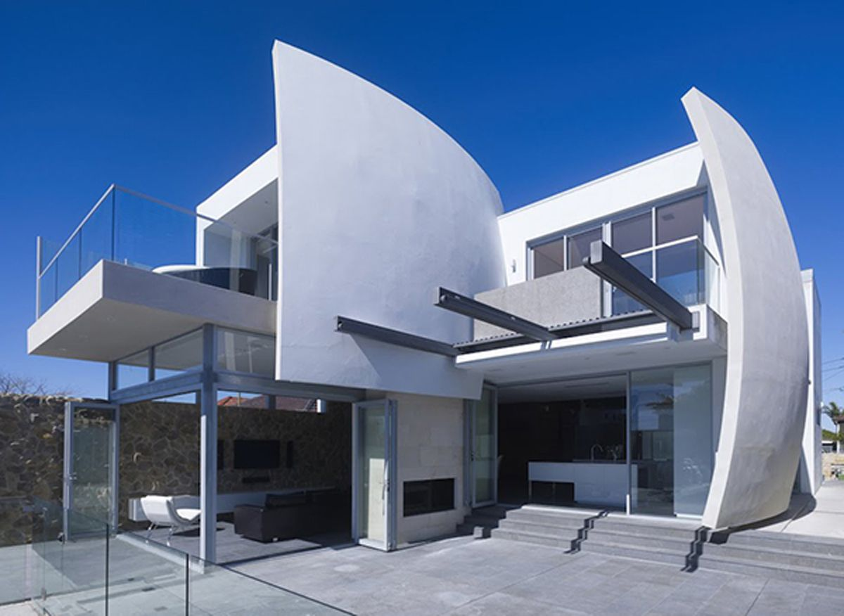 artistic futuristic house 19 imageries - Concrete Home Designs