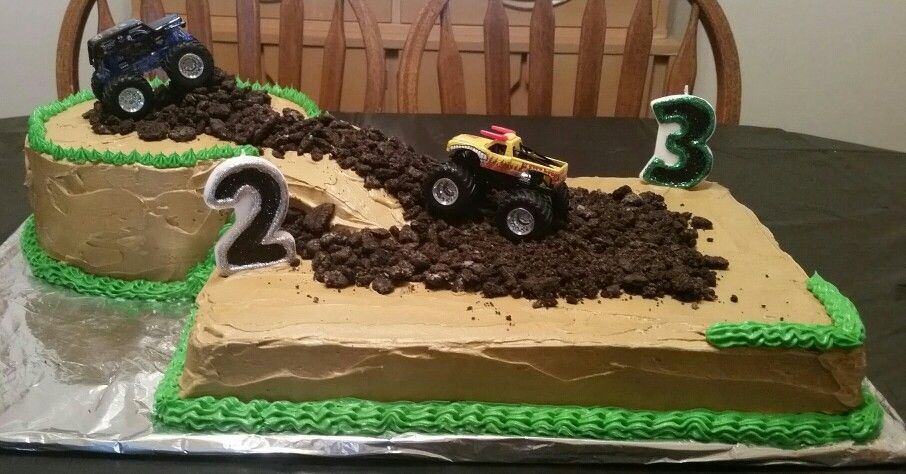 Monster Jam Birthday Cake Made The Cake And Bought Publix