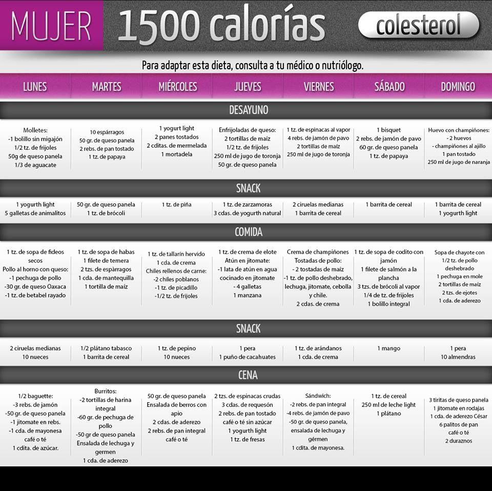 Dieta de 1500 calorías | dietas | Pinterest | Dieta de 1500 calorías ...