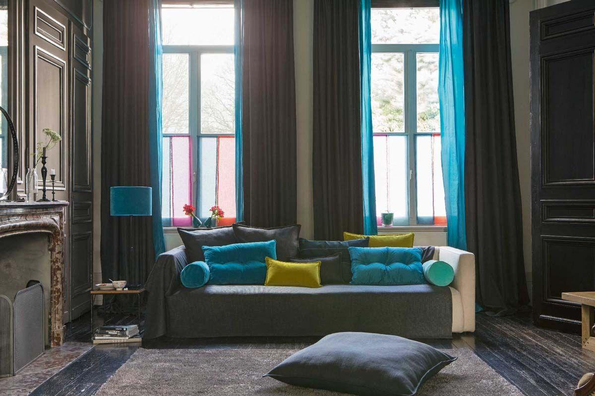 Confection en tissu TAFTA prusse. | home decor I like | Pinterest ...