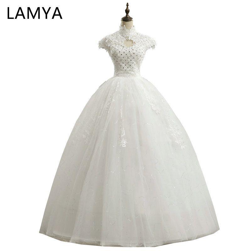 LAMYA Lace Sweetheart Short Wedding Dress 2018 Cheap Plus Size ...