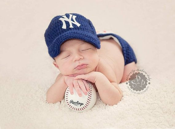 9fff38eef New york yankees Baseball Tean Baby Crochet Hat by astitchintime36 ...