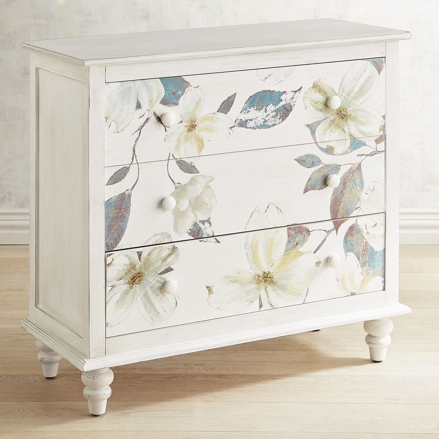 Mallory Hand Painted Floral Chest White Furniture Makeover Beautiful Furniture Shabby Chic Furniture