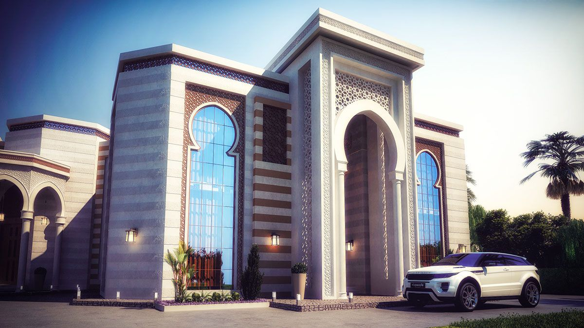 Heteen palace type c on behance arabic exterior design for Mosque exterior design