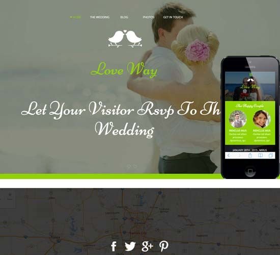 wedding website templates free download