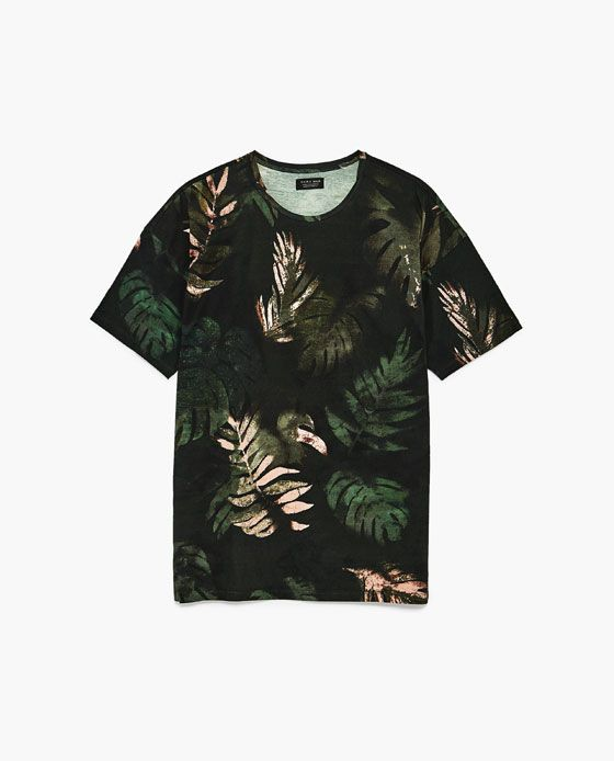 12c03390 Image 6 of TROPICAL T-SHIRT from Zara. TROPICAL T-SHIRT - Available in more  colours ...