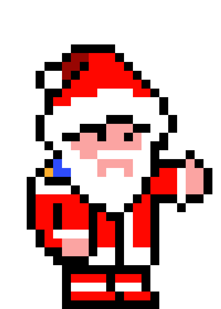 Pere Noel Vingt Et Unieme Pixel Art Video Ici Youtube