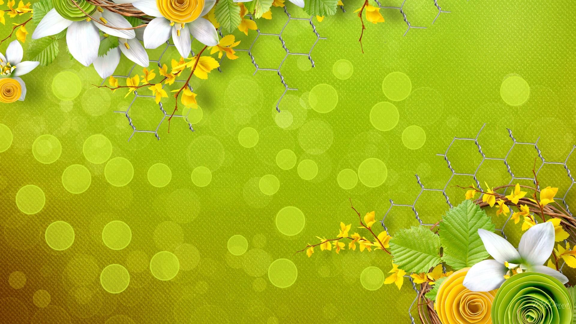 Splendid Green Yellow Flowers Download Hd Pictures « Pin HD Wallpapers