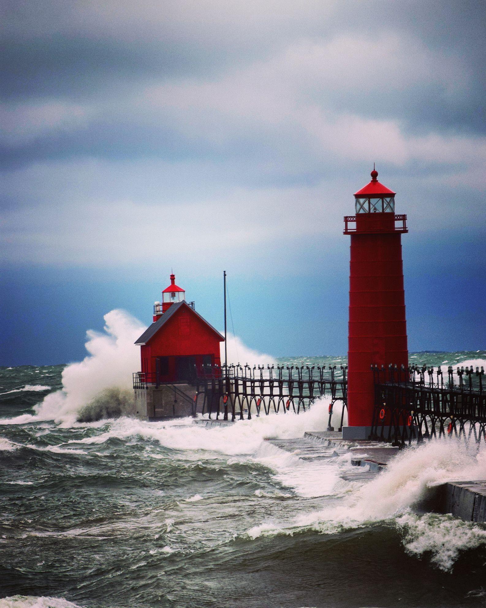 November Storm In Grand Haven Michigan