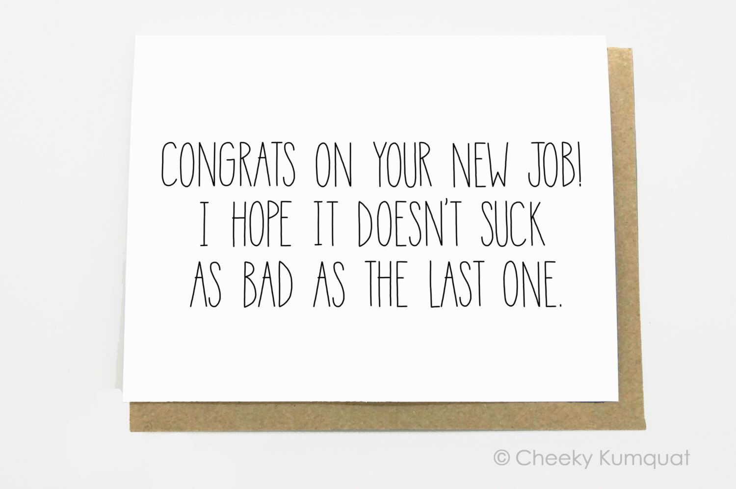 Funny New Job Congratulations New Job Card New Job Congrats