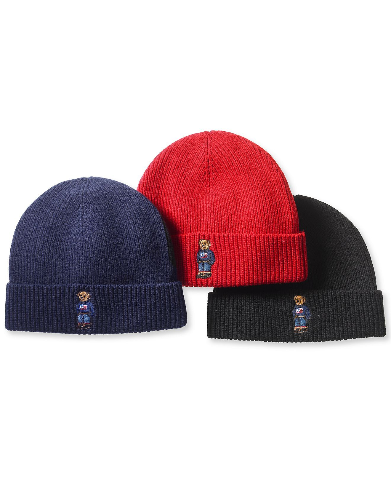 Polo Ralph Lauren Ribbed Embroidered Bear Hat - Polo Ralph Lauren - Men -  Macy s 1ac08780ed3