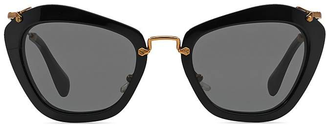 da462a41bf9 Miu Miu Women s Oversized Cat Eye Sunglasses
