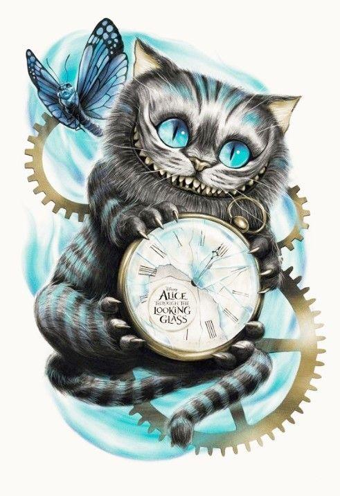 Chat Alice Aux Pays Des Merveilles : alice, merveilles, Épinglé, #Dessins, #peintures, #aquarelle, #crayon, #cartoon