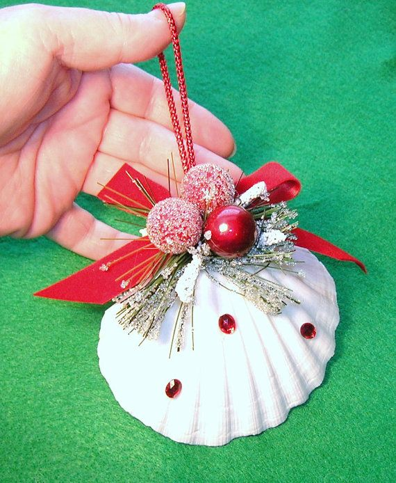 Christmas Ornament Made From A Pectin Shell With Red