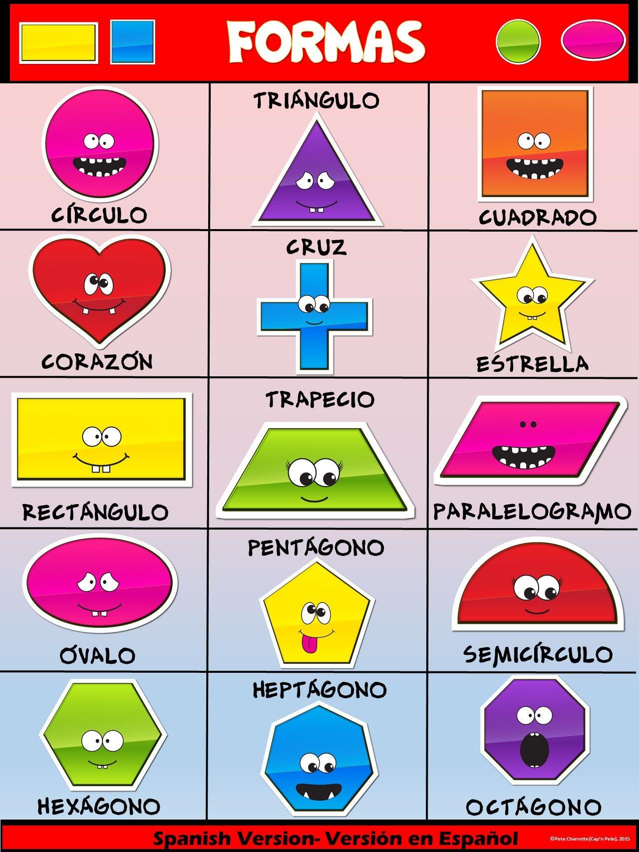 Classroom Fun Poster Fun Shapes Spanish Version