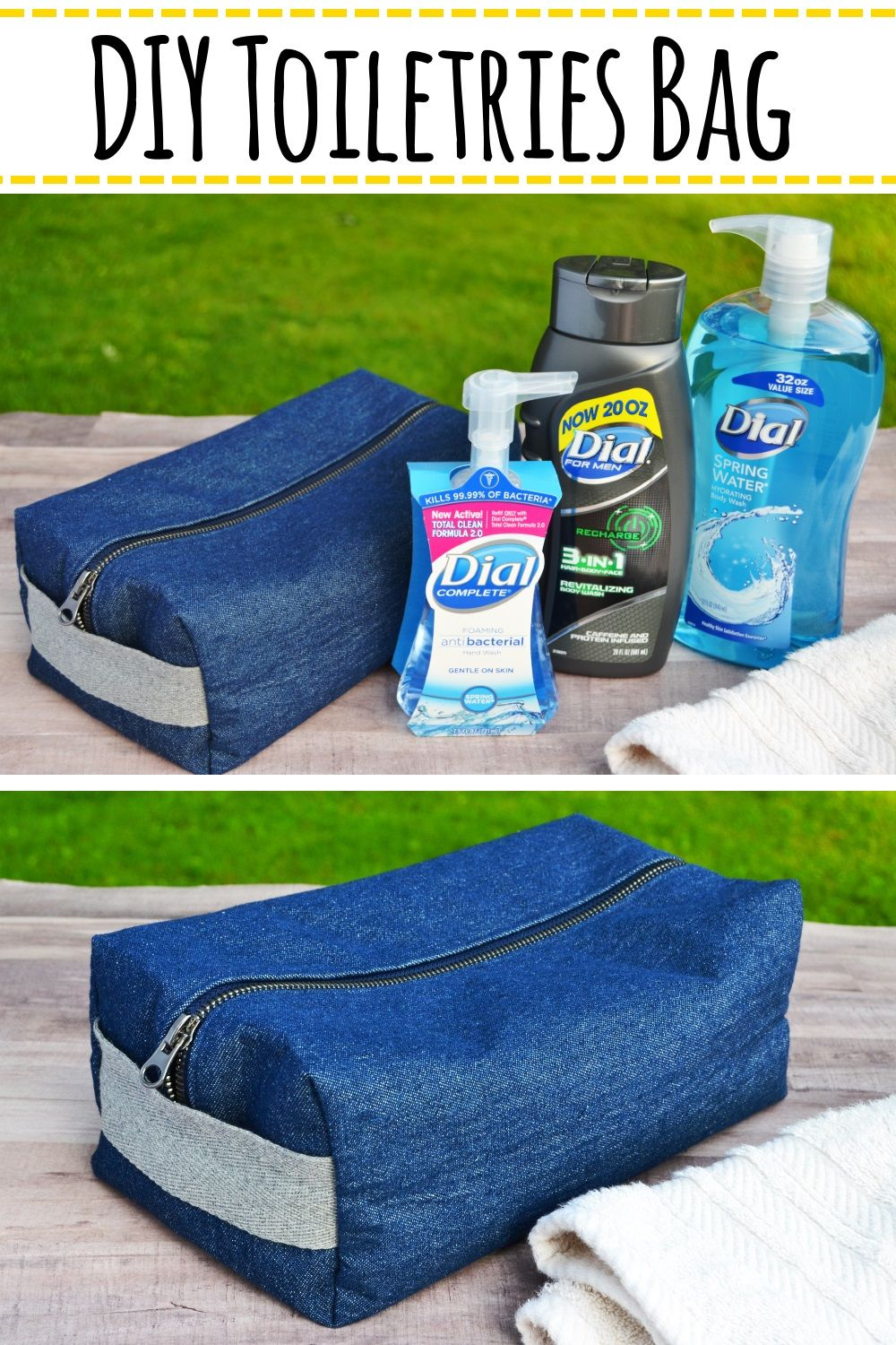 Diy Toiletries Bag Tutorial Make Your Own Boxy Toiletries Bag Using This Easy To Follow Tutorial Sewing Di Diy Toiletries Toiletry Bag Easy Sewing Projects