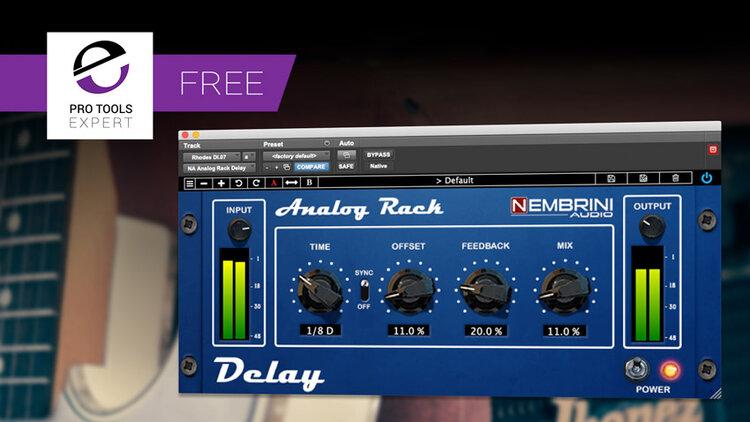 Friday Free Plug In Analog Rack Delay From Nembrini Audio In 2020