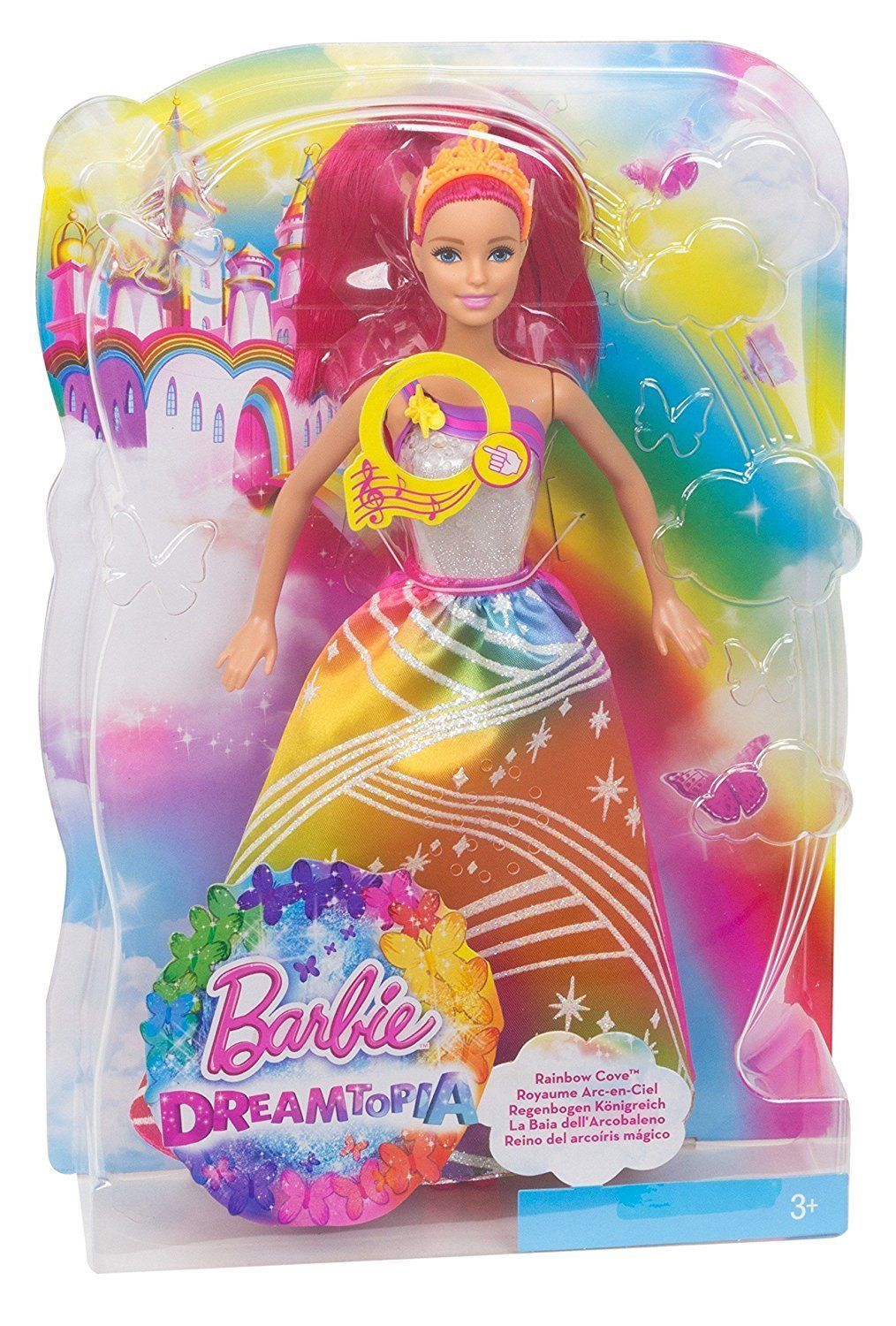 for whole family first look united kingdom Barbie Dreamtopia Rainbow Cove Light Show Princess Doll ...
