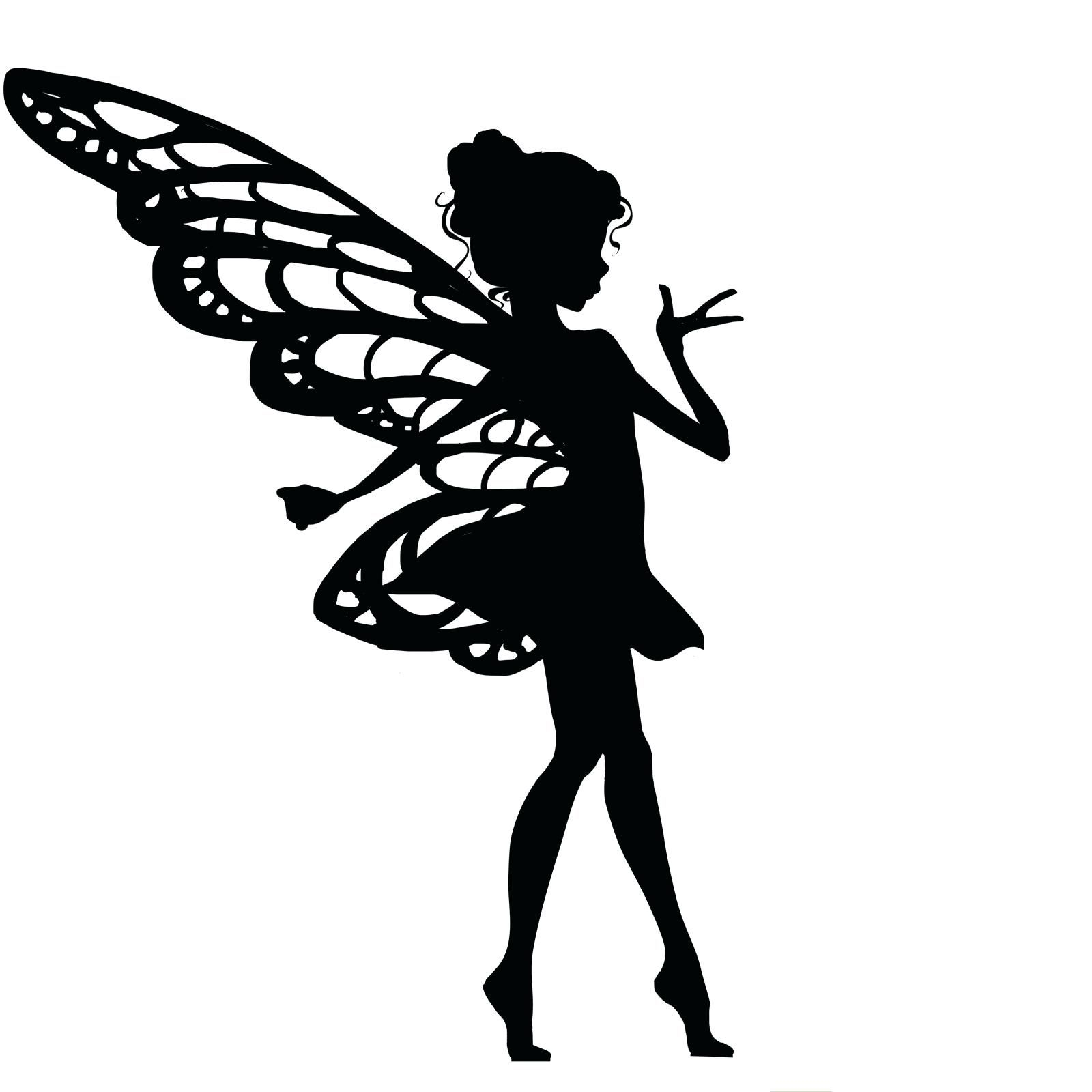 Soft image with printable fairy silhouettes