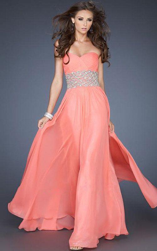 La Femme 17498 Pink Long Jeweled Prom Dress Cheap [La Femme 17498 ...