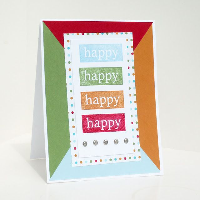 """A simple handmade men's birthday card. It would also work as a """"neutral"""" card. It doesn't have to be just for men."""