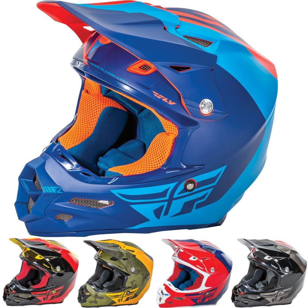 Fly Racing F2 Carbon Pure Mens Off Road Racing Motocross Helmet