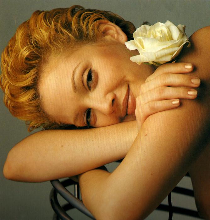 Drew Barrymore, Mirabella, 1994.Bern Stern