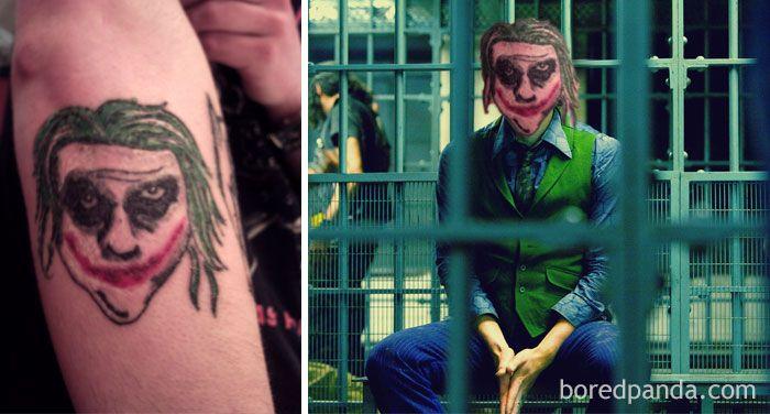 Resultado De Imagen Para Tatuajes Horribles Joker Caballero De