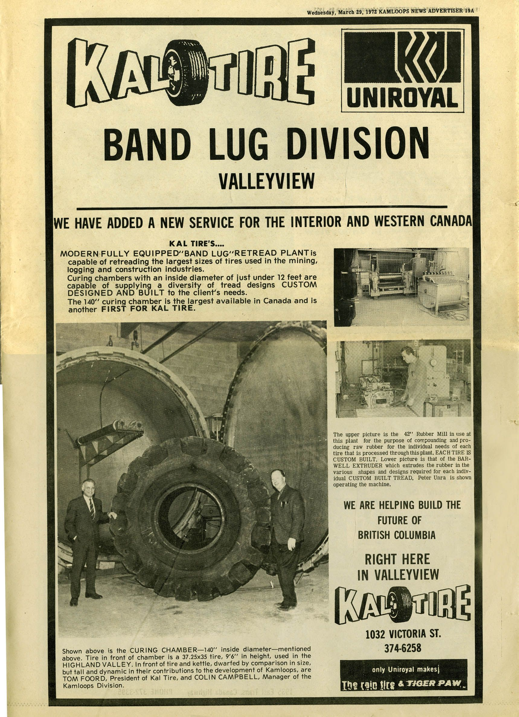 old newspaper ad for kal tire http www kaltire com classic advertising truck tyres mechanic old newspaper old newspaper ad for kal tire http