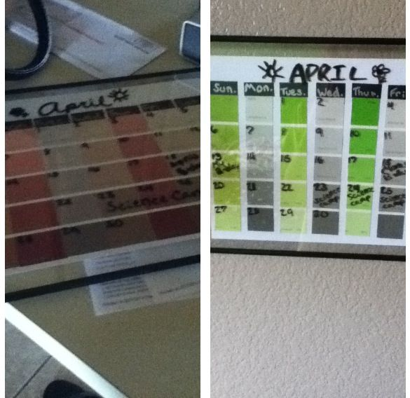 My Own Paint Sample Calendars That Are Dry Erase And Are Able To