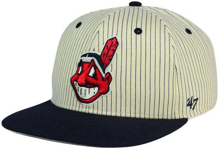 fcf03aa8404bc  47 Brand Cleveland Indians Woodside Captain Snapback Cap - Ivory Cream  Adjustable Cleveland Indians