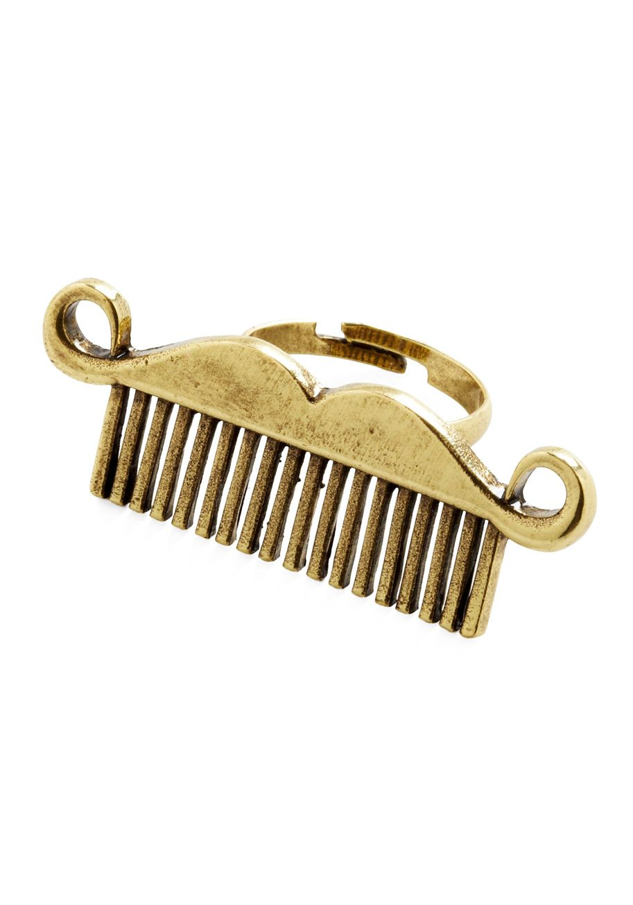 Comb Back Anytime Ring That Looks More Like A Mustache To Me